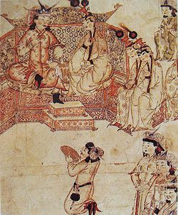 Ghazan with wife at his court.jpg