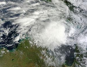 Cyclone Gillian - Cyclone Gillian approaching Cape York Peninsula on 8 March
