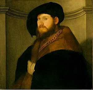 Portrait of a Gentleman Wearing a Gold Chain /...