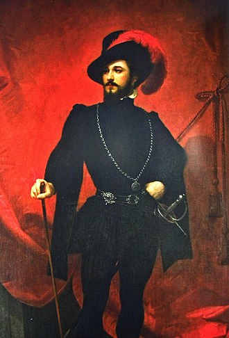 Giovanni Matteo Mario - Portrait of Mario as Don Giovanni in the 1850s at the Italian Opera House of the Mariinsky Theatre