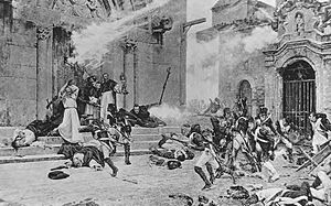 Second Siege of Zaragoza - Amid bitter street fighting in which quarter was neither given nor received, the French infantry would assault the grim defenders of a church during the siege.