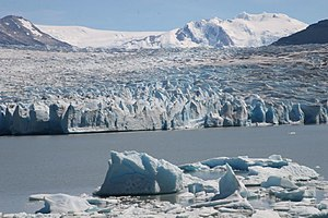 Zona Austral - Grey Glacier in the picture is one of the many outlet glaciers of the Southern Patagonian Ice Field