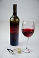 Glass of Red Wine with a bottle of Red Wine for halloween - Evan Swigart.jpg