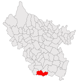 Vị trí của Glodeanu-Silistea