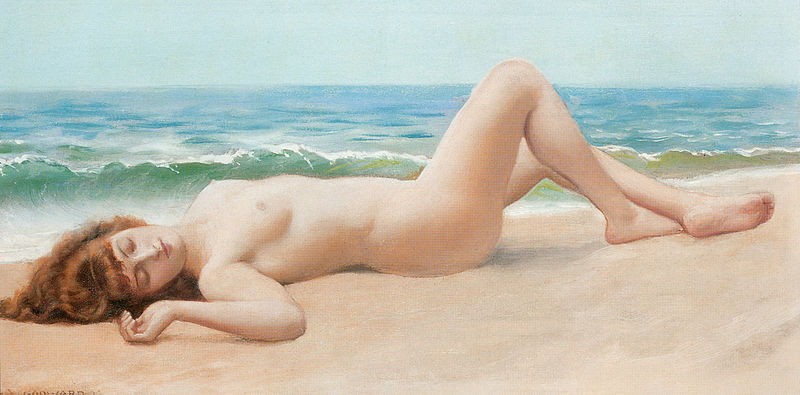 File:Godward Nu Sur La Plage (modern nude).jpg