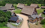 Tall houses at Gokayama village