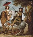 Gonzales Coques - An equestrian portrait of an elegant gentleman and lady in a wooded landscape.jpg