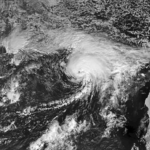 Tropical Storm Delta (2005) - Tropical Storm Delta approaching the Canary Islands on November 27