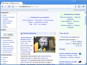 Google Chrome Beta1 eswiki.png