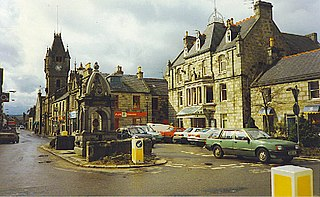 Huntly town in Scotland