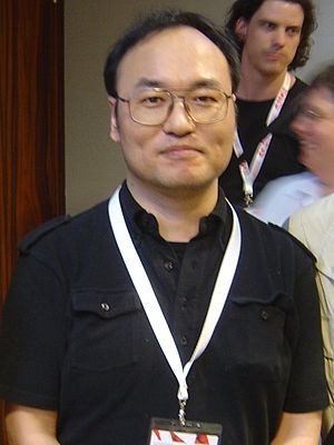 English: Gosho Aoyama, the creator of Case Clo...