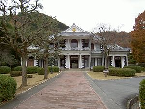 "Districts of Japan - The former district government office of Higashi-Yamanashi (""East Yamanashi""), Yamanashi. The building has been moved to the ""Meiji village"" museum in Aichi."
