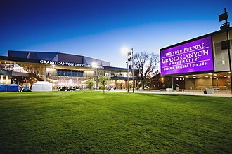 GCU Arena - Image: Grand Canyon University Arena Dusk
