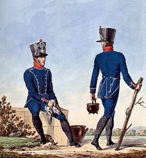 Light infantry - Chasseurs from a light infantry regiment of Napoléon's Grande Armée
