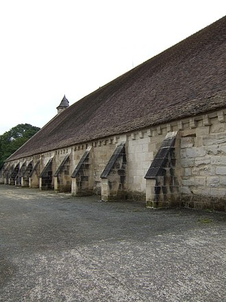 Maubuisson Abbey - The tithe barn on the northwest side of the Abbey
