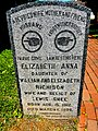 """Gravestone illustrating use of the word """"relict"""" meaning """"widow"""".jpg"""