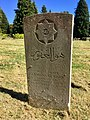 Gravestone of Driver Samundar Khan of the Royal Indian Army Service Corps at Western Cemetery, Cardiff, May 2020.jpg