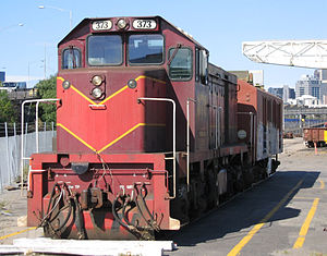 Victorian Railways T class - Low nose T373 in September 2005