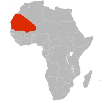 Greater Mauritania - The proposed Greater Mauritania shown within Africa
