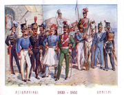Greek Army uniforms, 1833-1851