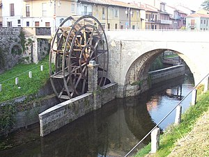 Cassano d'Adda - A watermill on the Naviglio Martesana in the frazione Groppello d'Adda.