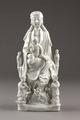 Guanyin barmhärtighetens gudinna gjord av porslin i Kina på 1700-talet - Hallwylska museet - 95578.tif