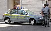 Guardia di Finanza police in central Rome