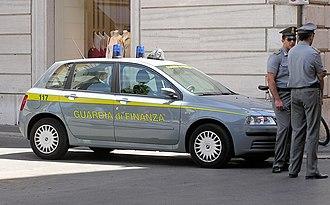 Guardia di Finanza - Guardia di Finanza police in central Rome.