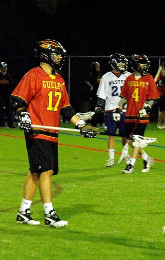 Canadian University Field Lacrosse Association - Guelph Defender in 2014.