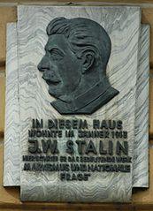 Stalin-Gedenktafel