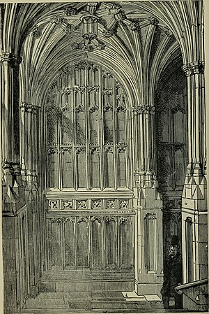 St Mary Undercroft - Image: Guide to the Palace of Westminster (1911) (14591271170)