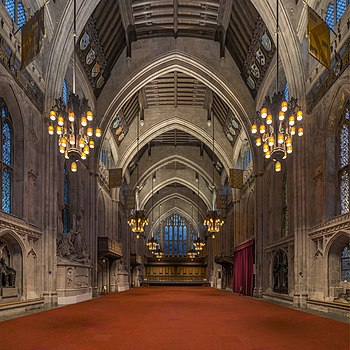 The interior of Guildhall, London
