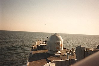 Armilla patrol - View from the bridge of HMS Nottingham during Defence Watches November 1986