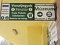 Hűvösvölgy Station, signs, 2017 Budapest.jpg