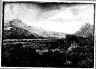 Berglandschap met een dorp