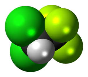 2,2-Dichloro-1,1,1-trifluoroethane - Image: HCFC 123 3D spacefill