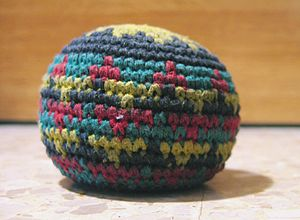 Hacky sack - A crocheted footbag