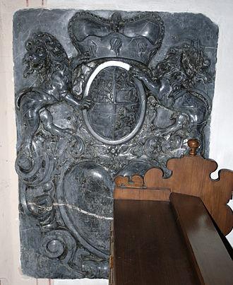 Francis Alexander, Prince of Nassau-Hadamar -  Heart Epitaph for Hadamar Francis Alexander in the Herzenberg Chapel in Hadamar