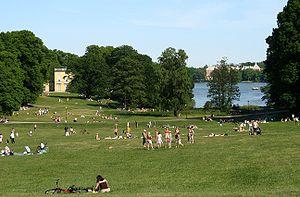 Hagaparken - Image: Haga lawn
