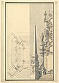 Half elevation and half ground plan for a catafalque for Margherite Louise d'Orleans, Granduchess of Tuscany (1645-1721) MET DP820089.jpg