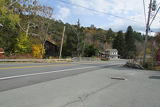 Barryville, New York - NY 97 leading into Barryville