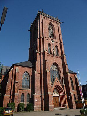 Barmbek - Catholic St. Sophia's Church build 1900