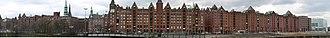 Speicherstadt - Image: Hamburg.Speicherstad t.panorama.wmt