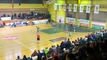 Datoteka:Handball match between home team Bosna and Lokomotiva from Brčko in Mladost hall in Visoko.webm