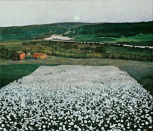 Harald Sohlberg - Flower Meadow in the North - Google Art Project