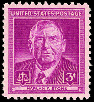 Harlan F. Stone - Harlan F. Stone commemorative stamp, issued in 1948