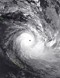 Cyclone Harold at peak intensity on 6 April