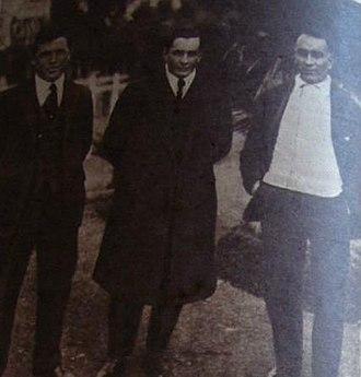 Zenón Díaz - Image: Harry, Ennis Hayes y Zenón Díaz en 1916