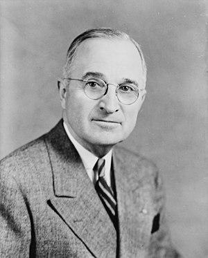 Harry S Truman, bw half-length photo portrait, facing front, 1945.jpg