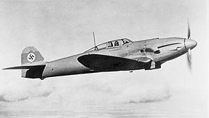 Heinkel He 112 - He 112 in flight